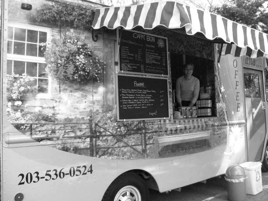 """A new lunch wagon offering paninis to go, Caffé Bon, is based in the Bruce Park playground. """"Bon is the nickname of my family,"""" said owner/chef Maria Pietrobon. """"We love mother nature and the simplicity of the good stuff."""" Photo: Anne W. Semmes / Greenwich Citizen"""