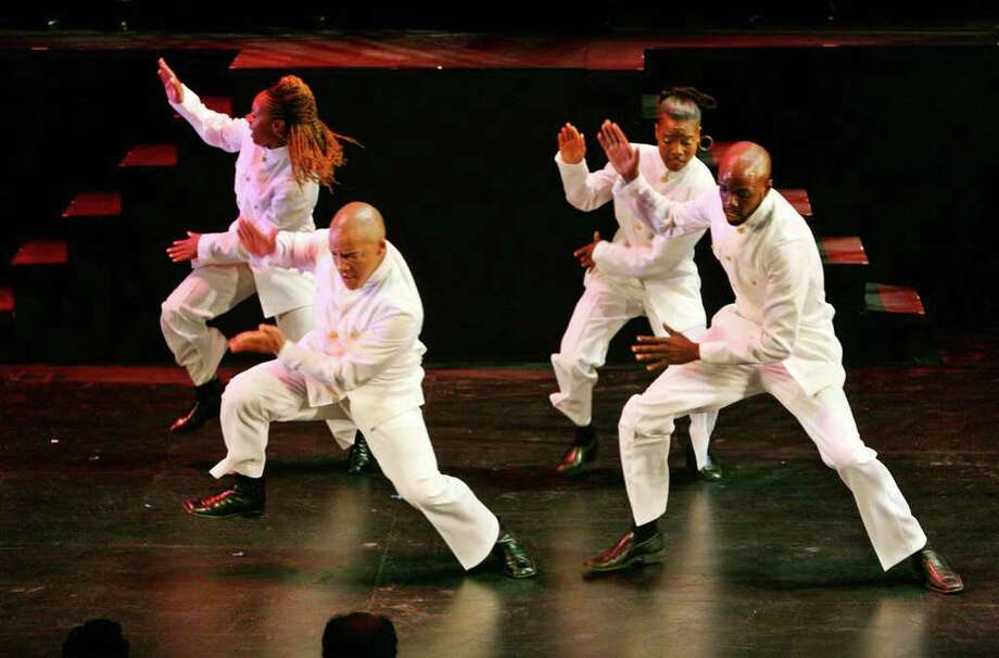 Step Afrika! performs the dance art of stepping at the Atlas Performing Arts Center Thursday May 30, 2007 in Washington with guest artists including Sweet Honey in the Rock, Michael Forde, Lesole Maine and Jonathan Matis.  Step Afrika! is the first professional dance company dedicated to the art of stepping. Step Afrika! The company offers a lecture/demonstration at 7 p.m. Tuesday, Sept. 28,  in the Recital Hall of the Performing Arts Center at the University at Albany and a master step class at 6 p.m. Wednesday, Sept. 29,  in the Performing Arts Center?s Lab Theatre, both free. A performance will be Thursday, Sept. 30, at UAlbany. Details at 442-3997 or http://www.albany.edu/pac. (Sharon Farmer / SFPhotoworks) Photo: Sharon Farmer / photos by ©Sharon Farmer (mandatory credit) 202-246-7977 sfphotoworks@att.net