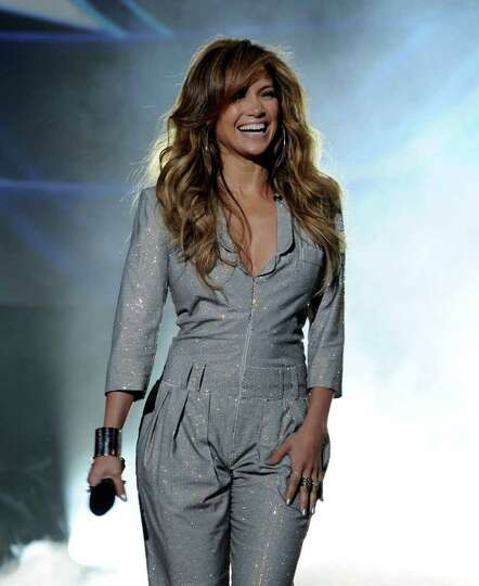 INGLEWOOD, CA - SEPTEMBER 22:  Singer Jennifer Lopez appears onstage at a press conference to offici