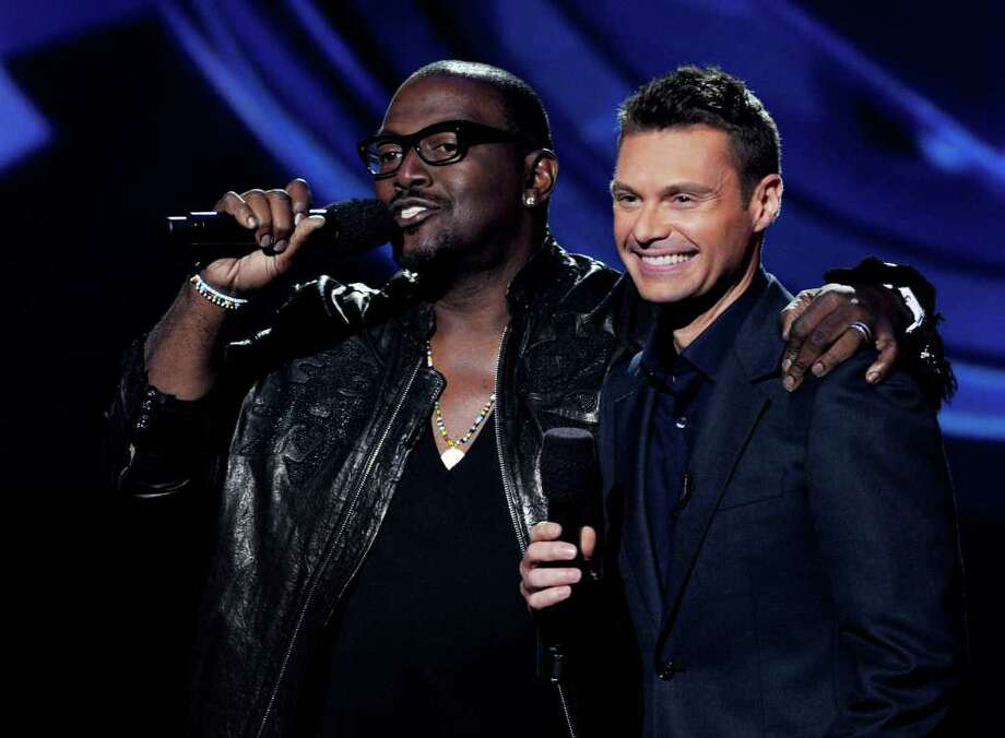 "INGLEWOOD, CA - SEPTEMBER 22:  Musician Randy Jackson (L) and host Ryan Seacrest appear onstage at a press conference to officially announce the season 10 ""American Idol"" judges panel at The Forum on September 22, 2010 in Inglewood, California.  (Photo by Kevin Winter/Getty Images) *** Local Caption *** Randy Jackson;Ryan Seacrest Photo: Kevin Winter, Getty Images / 2010 Getty Images"