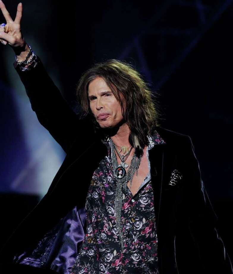"INGLEWOOD, CA - SEPTEMBER 22:  Singer Steven Tyler appears onstage at a press conference to officially announce the season 10 ""American Idol"" judges panel at The Forum on September 22, 2010 in Inglewood, California.  (Photo by Kevin Winter/Getty Images) *** Local Caption *** Steven Tyler Photo: Kevin Winter, Getty Images / 2010 Getty Images"