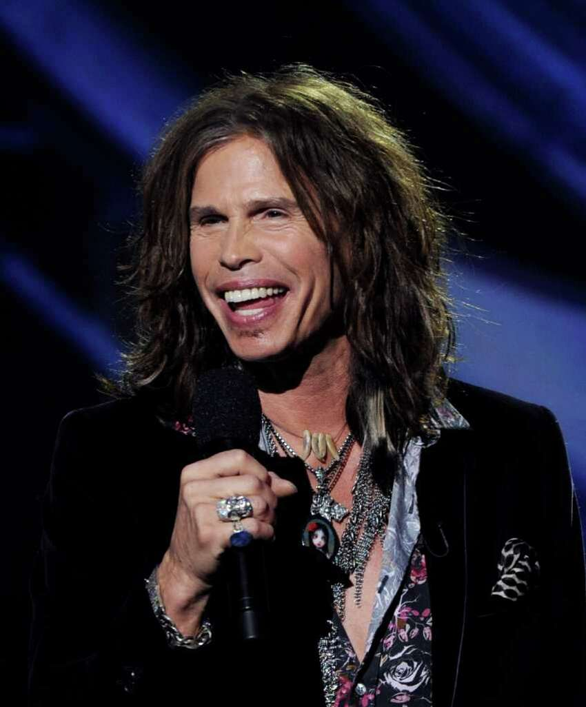 INGLEWOOD, CA - SEPTEMBER 22: Singer Steven Tyler appears onstage at a press conference to officially announce the season 10