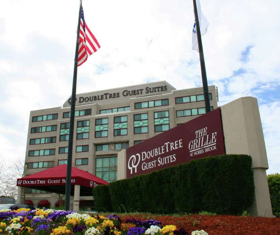 "Norwalk-based HEI""s remodel of every two-room suite at tthis Boston-area Doubletree that it will turn into an Embassy Suites will feature two 37-inch, high-definition televisions, a granite bathroom, wet bar with granite counter tops and built-in refrigerator and microwaves. Photo: Contributed Photo / Stamford Advocate Contributed"