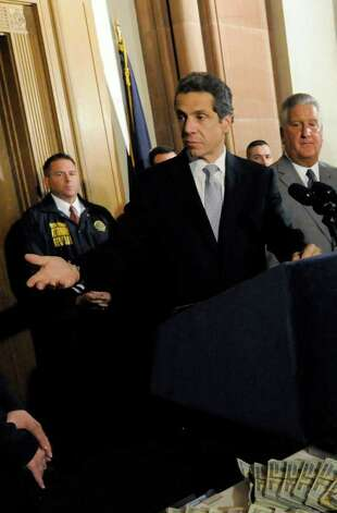 Andrew Cuomo has a large war chest to spend on his race for governor, a job held by his father, Mario Cuomo. Photo: Michael P. Farrell