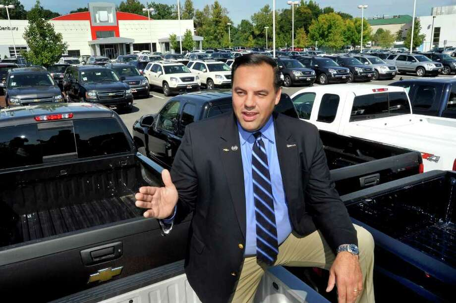 Todd Ingersoll, president of Ingersoll Auto of Danbury, talks about his new dealership from the car lot in Danbury, Thursday, Sept.23, 2010. Photo: Michael Duffy / The News-Times