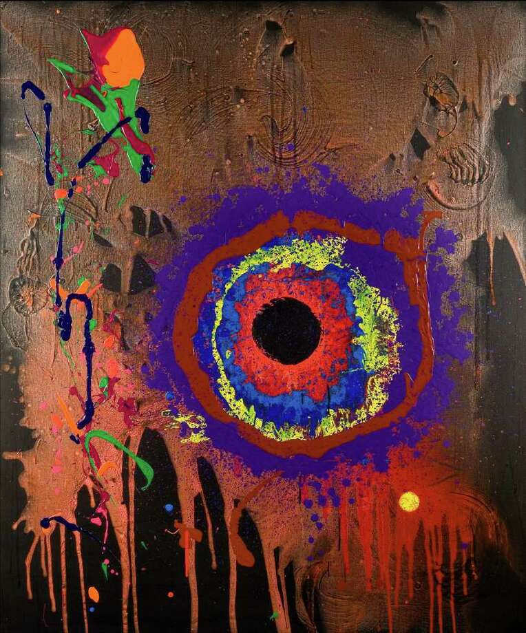 """John Hoyland's """"Black Moon Lament,"""" 2006, an acrylic on canvas, is featured in """"The Independent Eye: Contemporary British Art From the Collection of Samuel and Gabrielle Lurie"""" at the Yale Center for British Art through Jan. 2. Photo: CONTRIBUTED PHOTO"""