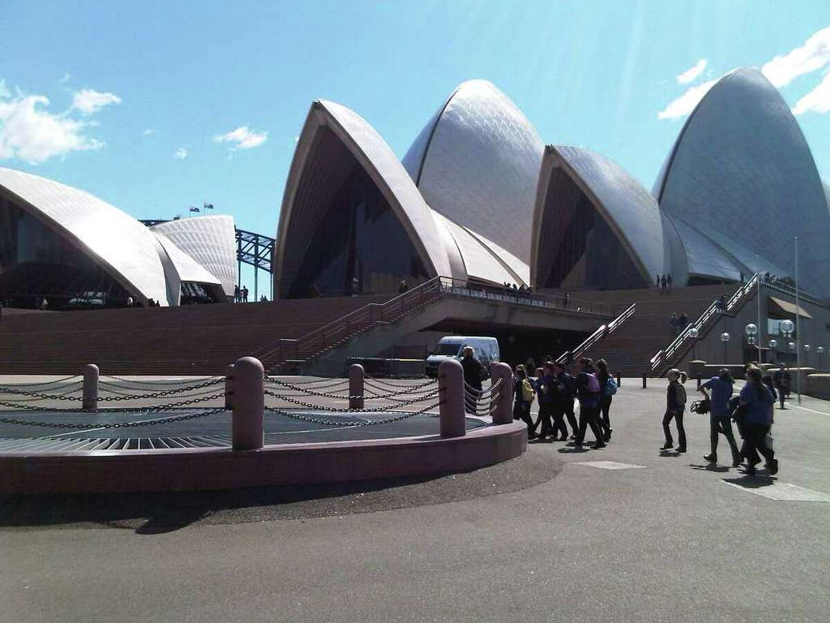 The Sidney Opera House, completed in 1973, far exceeded its budgeted price of $7 million, coming in at a staggering $102 million. ( Eric Anderson / Times Union)