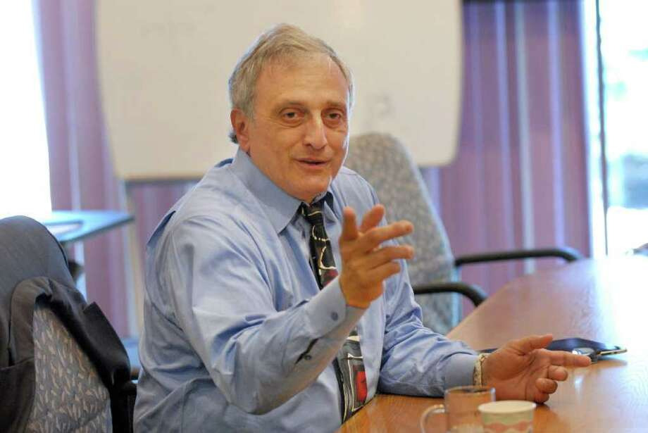 Republican Carl Paladino answers questions during a Times Union editorial board meeting in August. Since then, the Buffalo businessman scored a Republican primary upset for governor. Supporters say he will refine some positions, while critics say some of his ideas would fail court challenges. (Will Waldron / Times Union) Photo: Will Waldron