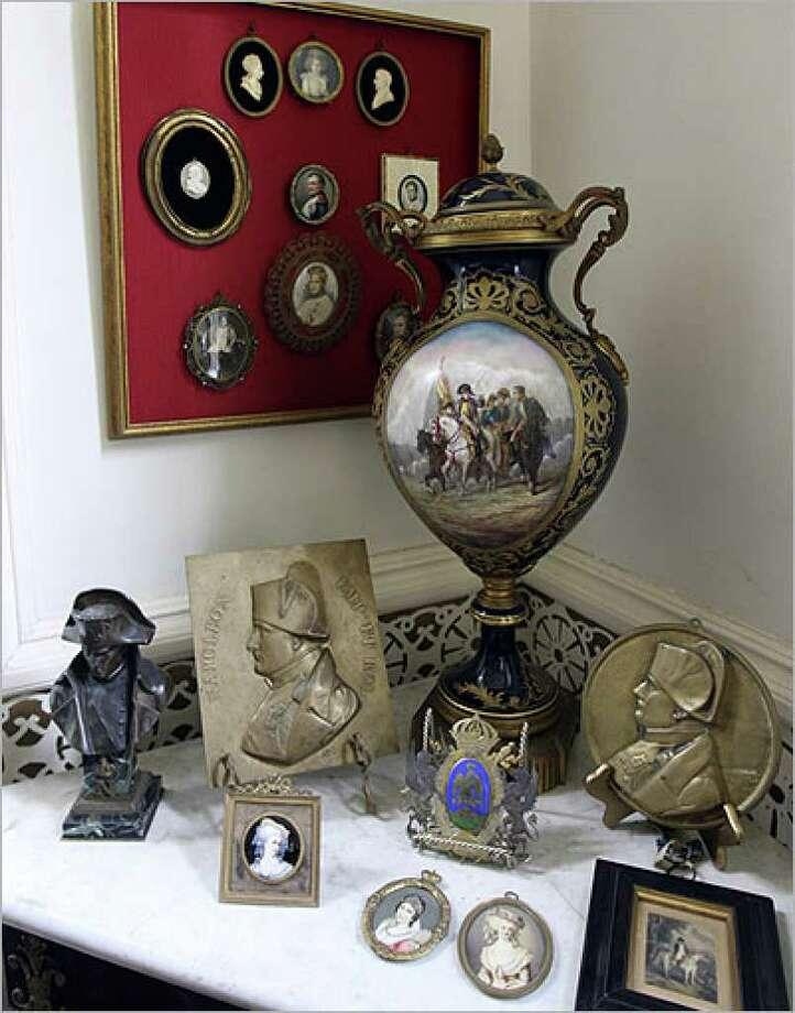 Images of Napoleon and Josephine fill a corner in Villa Finale.
