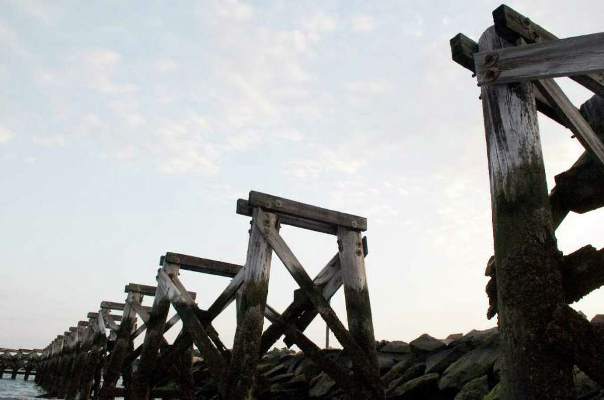 The 315-foot-long pier at Cummings Park was destroyed during a storm more than three years ago and remains in need of repair Thursday, September 23, 2010.