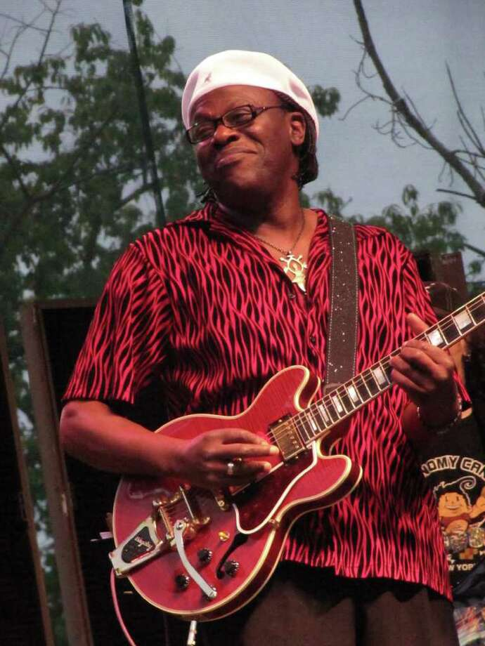 "Multiple Grammy Award-winning blues artist Joe Louis Walker (pictured) closed out the weekend-long Blues, Views & BBQ Festival at the Levitt Pavilion Sunday night. ""The people seemed like they really enjoyed all the artists,"" Walker told the Westport News. Photo: File Photo, Kirk Lang / Westport News"