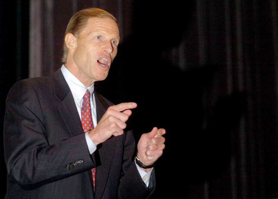 Connecticut State Attorney General, Richard Blumenthal speaks in Fairfield on Nov. 16th, 2005. Photo: File Photo, ST / Connecticut Post File Photo