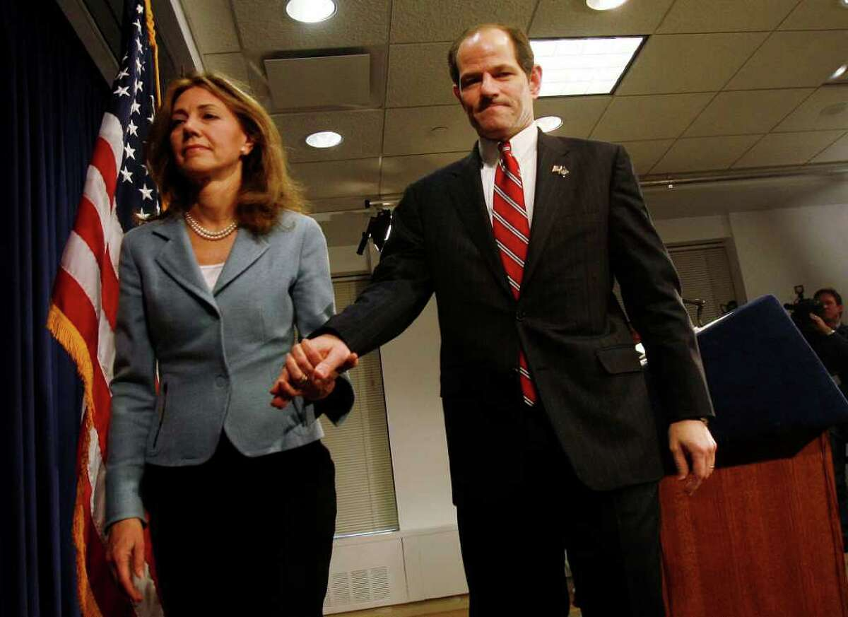 Silda Wall Spitzer and Eliot Spitzer in CLIENT 9: THE RISE AND FALL OF ELIOT SPITZER, a Magnolia Pictures release. (Photo courtesy of Magnolia Pictures.)