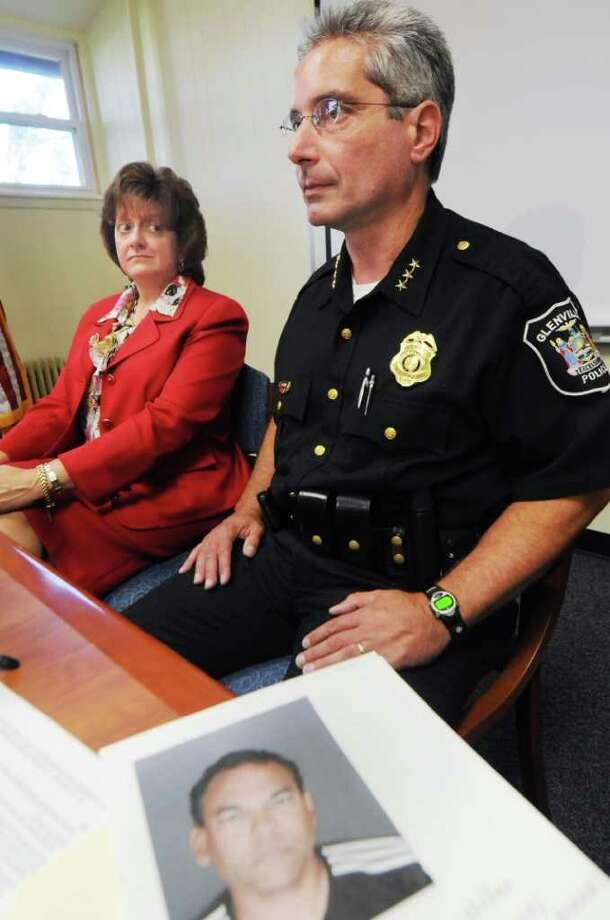 Scotia-Glenville Superintendent Susan Swartz and Glenville Police Chief Michael D. Ranalli conduct a news conference announcing the arrest of David Kennedy, a girls' varsity field hockey assistant coach, on third-degree rape charges. (Luanne Ferris / Times Union) Photo: Luanne M. Ferris