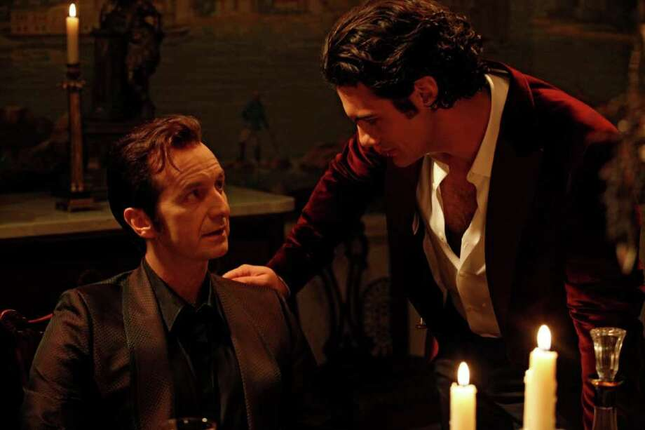 "In this publicity image released by HBO, Denis O'Hare, left, and Theo Alexander are shown in a scene from ""True Blood."" (AP Photo/HBO, John P. Johnson) Photo: John P. Johnson"