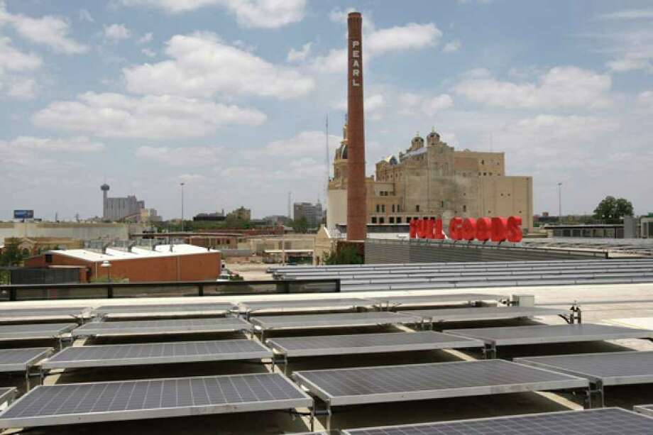 The Pearl Brewery, one of the stops on Saturday's tour, features a 200-kilowatt solar array — one of the largest in Texas.