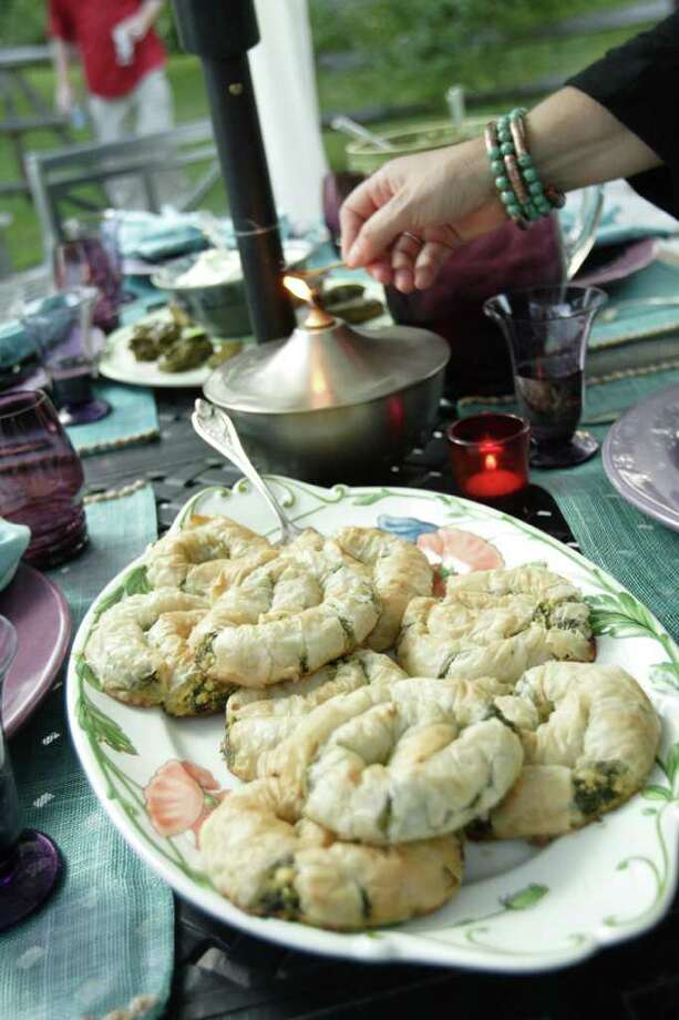 (Suzanne Kawola/Life @ Home) Spanokopita Salinkaria (Spinach Pie Snails), recipe at the end of the story