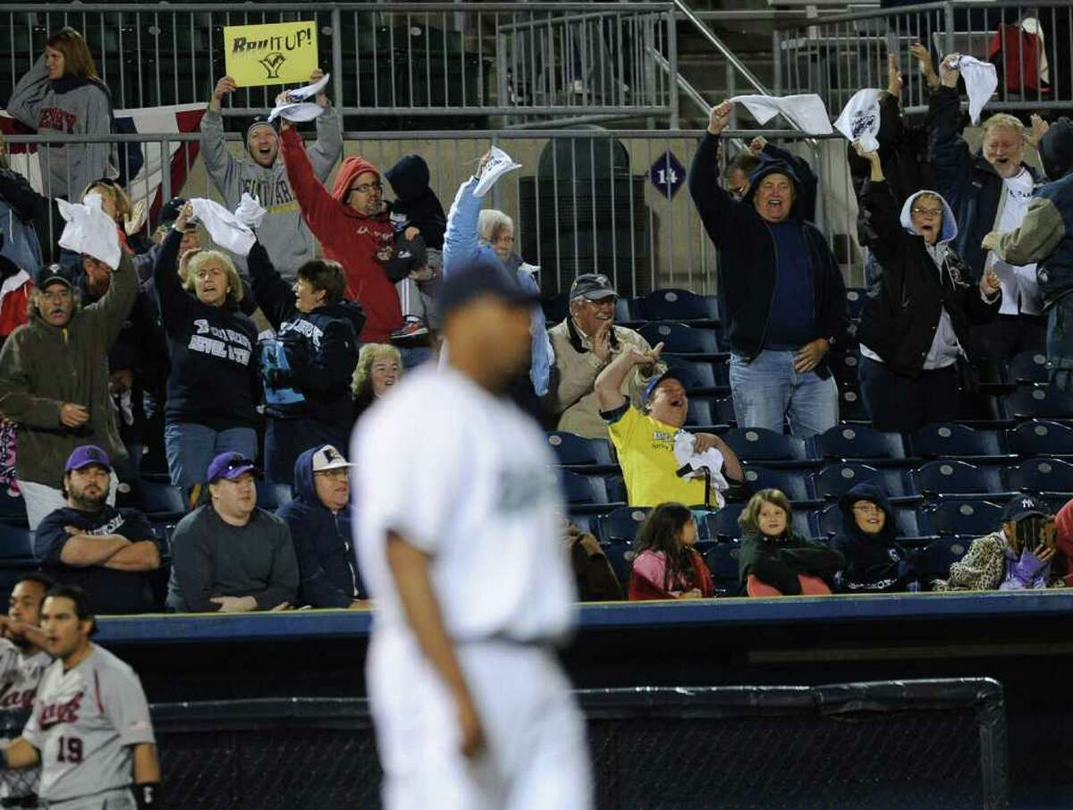 Baseball highlights from the third game of the Atlantic League Championship between the Bridgeport Bluefish and the York Revolution in Bridgeport, Conn. on Saturday October 02, 2010. The Bluefish were swept in the series with a 5-4 score in the tenth.
