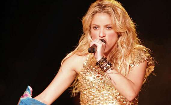 Shakira performs during her Tour of Earthly Delights at the AT&T Center on Saturday.