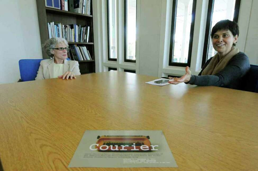 University of Albany Museum Director Janet Riker and curator Corinna Ripps Schaming talk about the museums new typewriter inspired exhibition