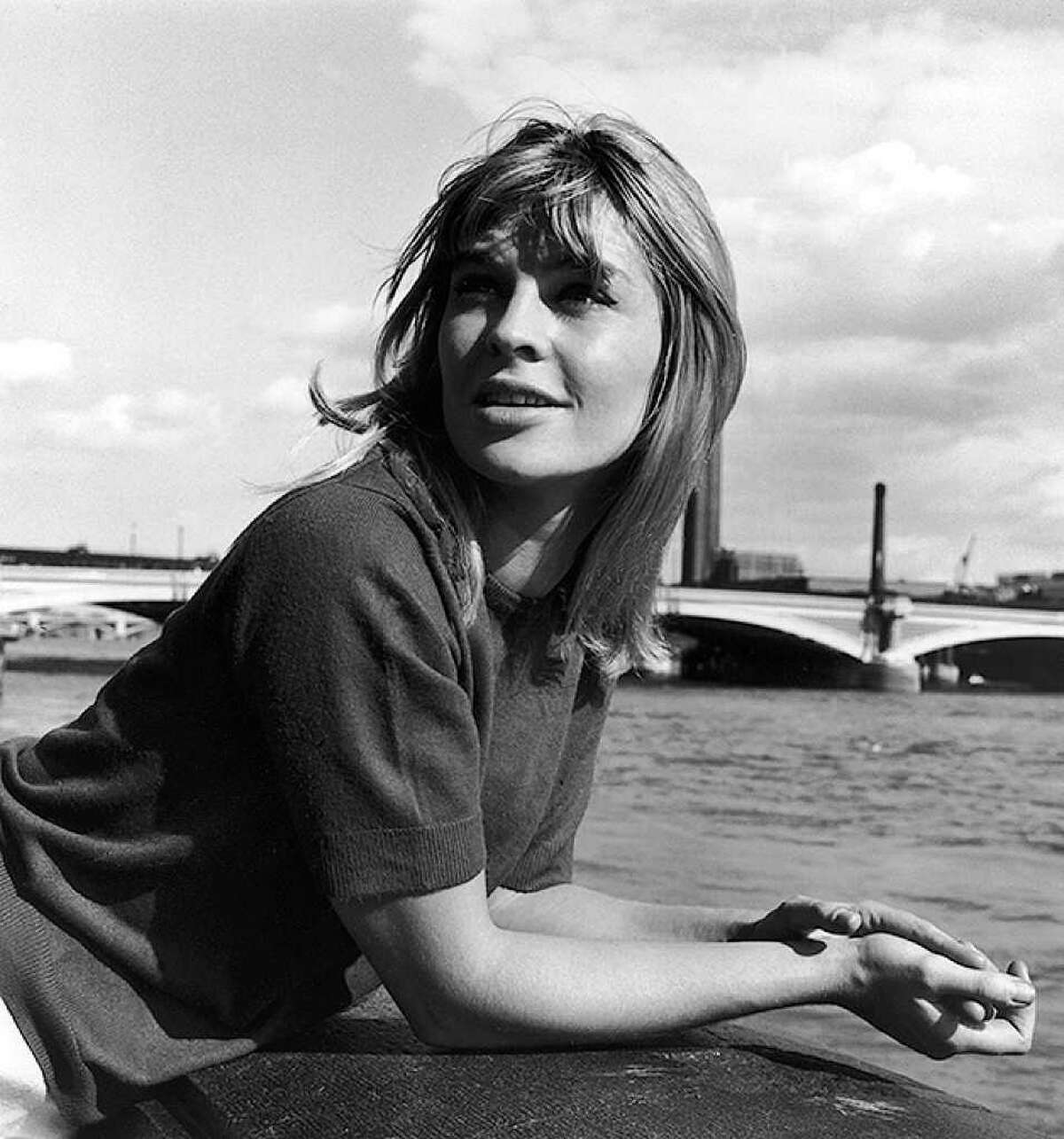 We begin our third installment of actresses through the years with a true classic, Julie Christie, seen next to the river Thames in London on Aug. 10, 1963, at the tender age of 22.