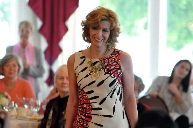 Denise Cesareo, of Redding, models an outfit during the 11th annual Breast Cancer Curvival Center's Celebrate Life Fashion Show at the Shore and Country Club in Norwalk on Sunday, Oct. 3, 2010. Photo: Amy Mortensen / Connecticut Post Freelance