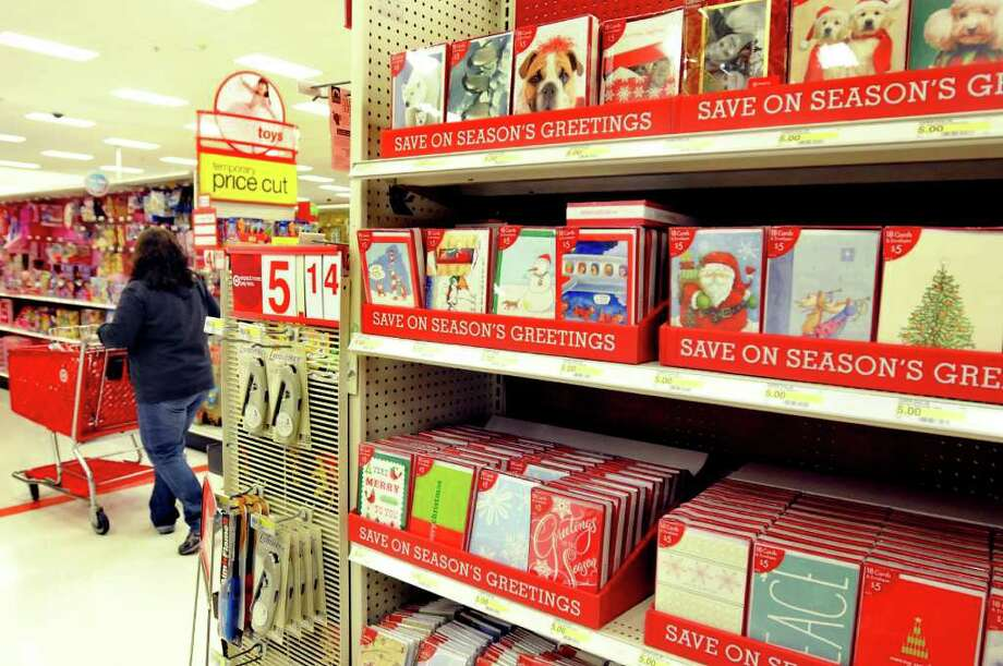 Holiday cards are on the shelves on Wednesday, Oct. 6, 2010, at Target in Colonie, N.Y. (Cindy Schultz / Times Union) Photo: Cindy Schultz