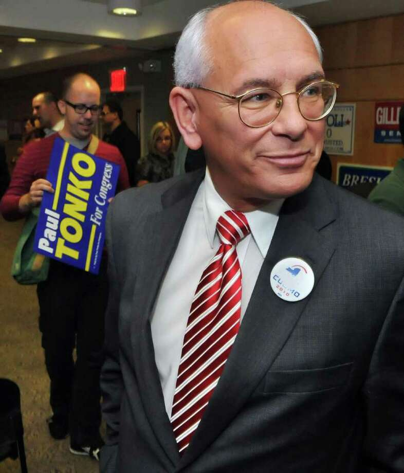 US Rep. Paul Tonko, an Amsterdam Democrat, attends a state party rally Wednesday at 1199/SEIU headquarters in Albany. October 6, 2010.  (John Carl D'Annibale / Times Union) Photo: John Carl D'Annibale