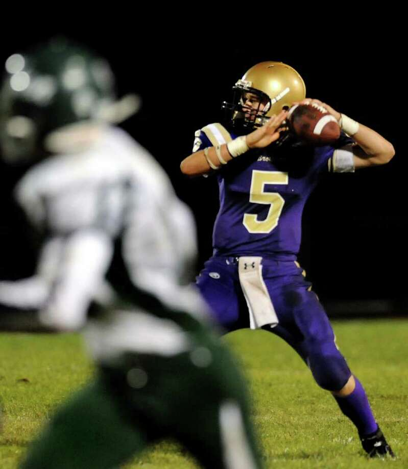 CBA quarterback Casey Crotty  is the latest of several members of his family to play for the Brothers.  (Cindy Schultz / Times Union) Photo: Cindy Schultz / 00010412A