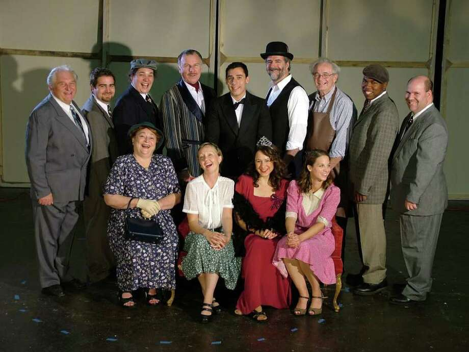 "The cast of the comedy, ""Enter Laughing,"" which will be staged this weekend by the Westport Community Theatre as the first production of its 55th season. Photo: Contributed Photo / Westport News"