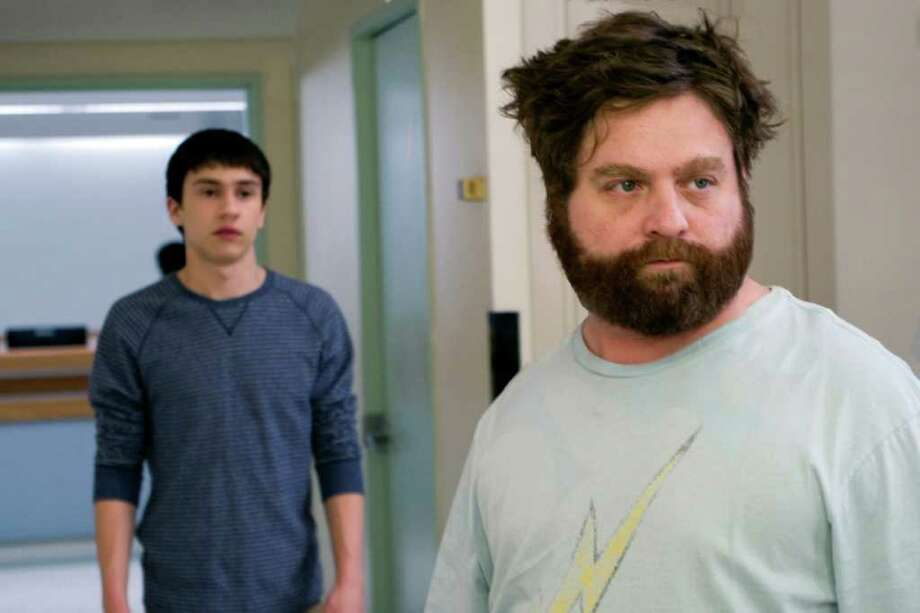 "Keir Gilchrist (left) and Zach Galifianakis (right) star in writer/directors Anna Boden and Ryan Fleck?s ""IT?S KIND OF A FUNNY STORY,"" a Focus Features release.  (K.C. Bailey / Focus Features) Photo: K.C. Bailey / © 2010 Focus Features"