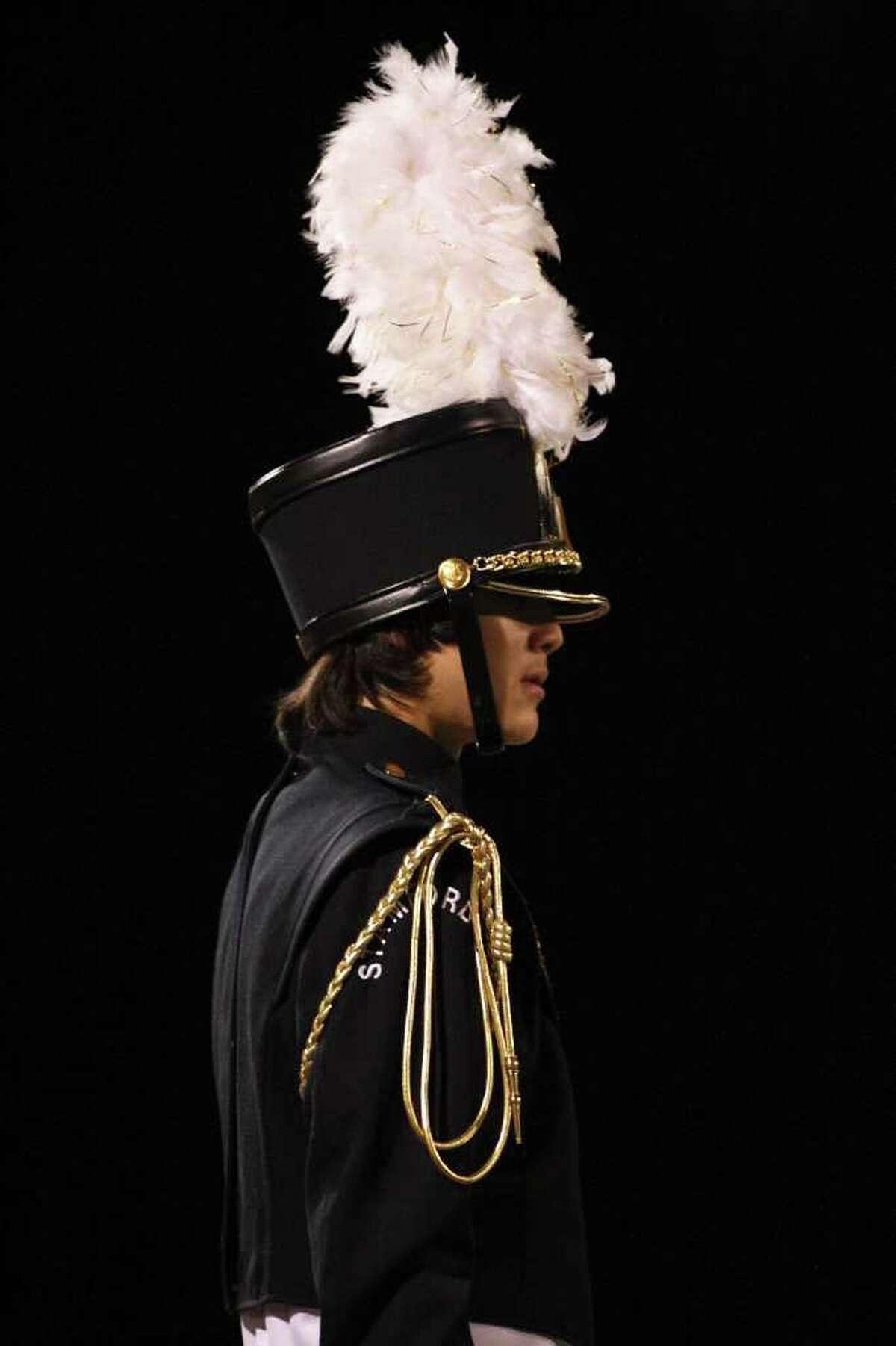 The marching band performs on Friday night at half time as Stamford play Norwalk on October 8th