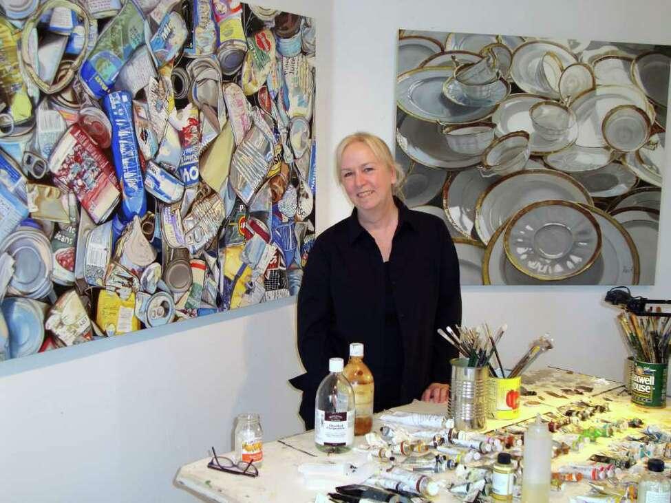 Leslie Parke in her studio.