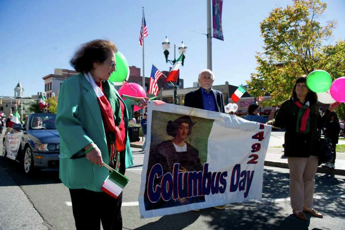 The Columbus Day Parade from Sacred Heart Church on Schyler Avenue down Broad and Atlantic Streets to Columbus Park Sunday October 10, 2010. The festivities featured live music, dancing and Italian specialties.