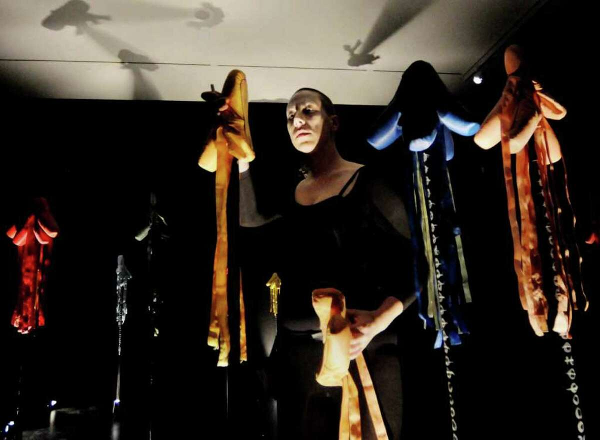 Deborah Lohse, a performance artist from New York City, performs a special presentation of