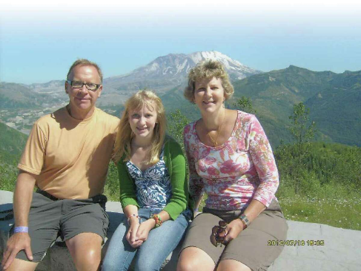 Dan, left, Amy, age 13, and Nancy Olson left the Capital Region and now reside in Bend Oregon, where they pay fewer taxes. (Courtesy Olson family)