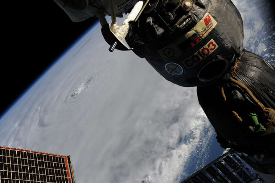This image provided by NASA shows Hurricane Earl taken by astronaut Douglas Wheelock aboard the Inte
