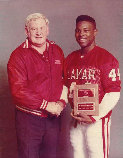 Lamar football, 1989. Photo courtesy of the Lamar University archives