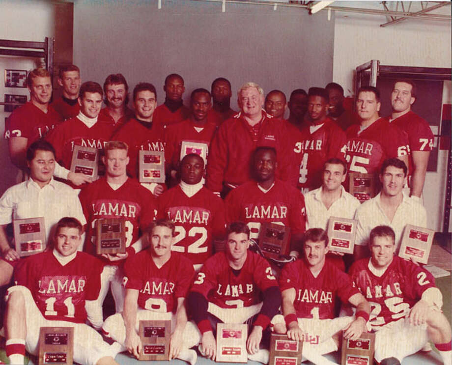 Lamar University football team, 1989. Photo courtesy of the Lamar University archives