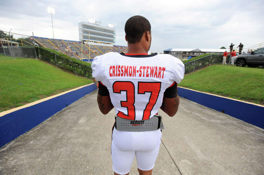 Lamar running back Brandon Crissmon-Stewart surveys Cowboy Stadium before the start of the Cardinals matchup against McNeese State in Lake Charles La. on Saturday, September 4, 2010  Valentino Mauricio/The Enterprise