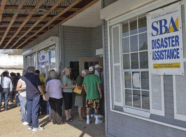 The line for FEMA assistance and Small Business Administration Disaster Assistance stretched through the door and to the outside of this Port Neches location. Dave Ryan