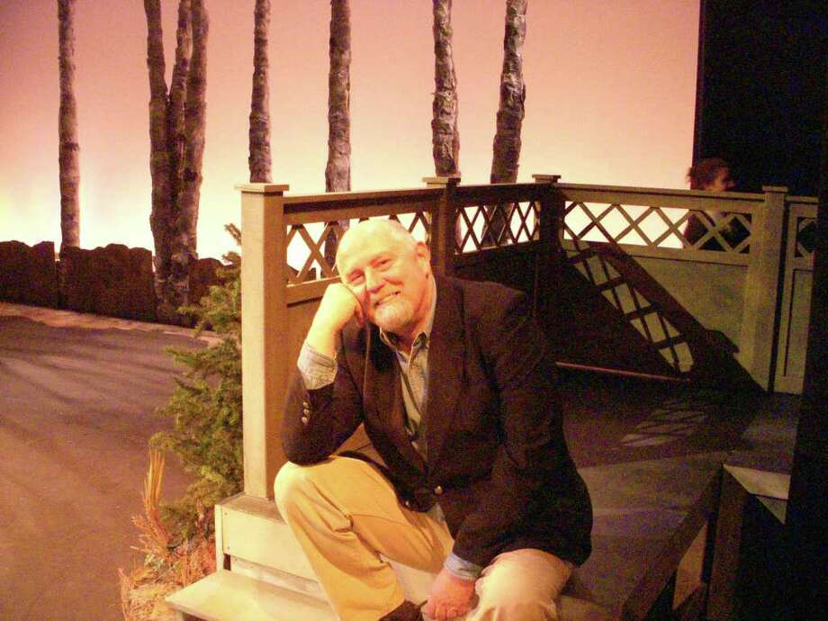 "Composer, musical director and Professor James McElwaine pauses on the set of ""Three Sisters"" at the Performing Arts Center at Purchase College before opening night tonight. Photo: Contributed Photo / Greenwich Citizen"