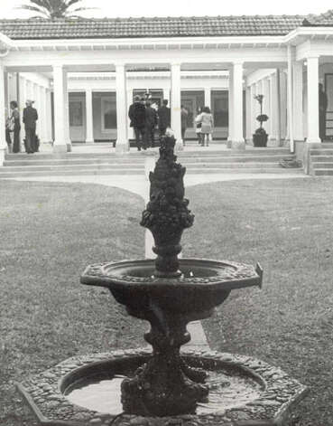 PORT ARTHUR - A water fountain decorates the courtyard at the Pompeiian Villa in Port Arthur.
