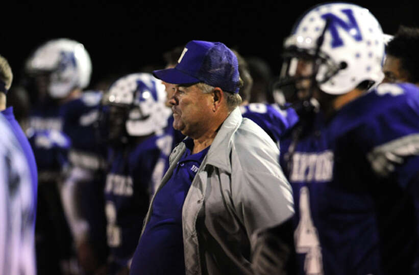 Curtis Barbay coaches the Newton team against Kirbyville during a recent match up at the Eagle's sta