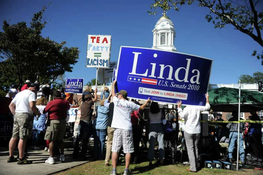 Questions remain about the impact on city services related to the Linda McMahon rally that was held in Milford on Saturday, October 9, 2010. Photo: Lindsay Niegelberg / Connecticut Post