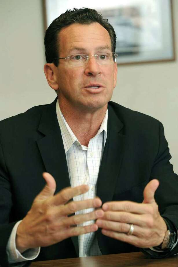 Dan Malloy, Democratic candidate for governor, meets with The News-Times editorial board Wednesday, Oct. 13, 2010. Photo: Carol Kaliff / The News-Times