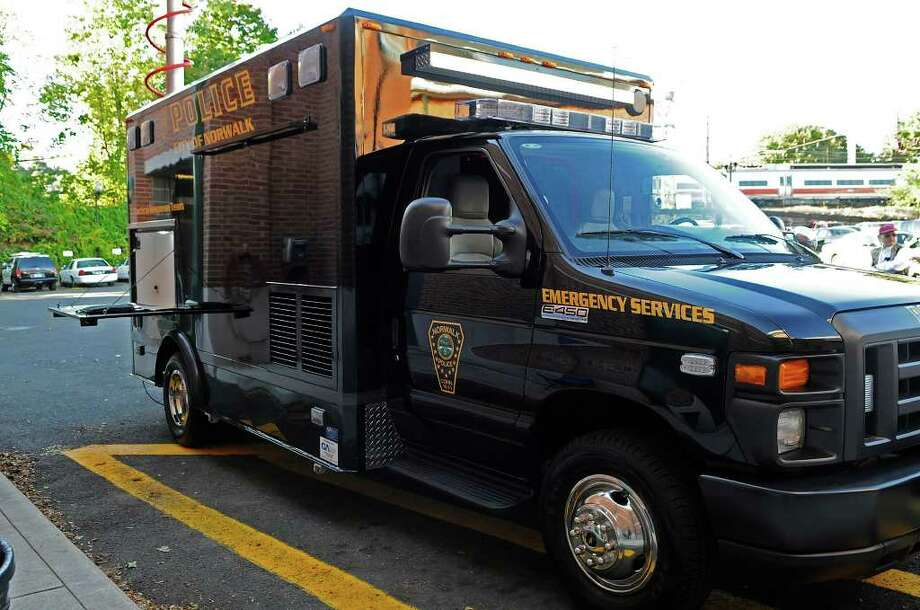 A new emergency services truck , parked outside the Norwalk Police Department headquarters on Wednesday, October 13 2010, will provide reliable transportation as well as the tools and technology required by the ESU Team. Photo: Shelley Cryan / Shelley Cryan freelance; Stamford Advocate Freelance