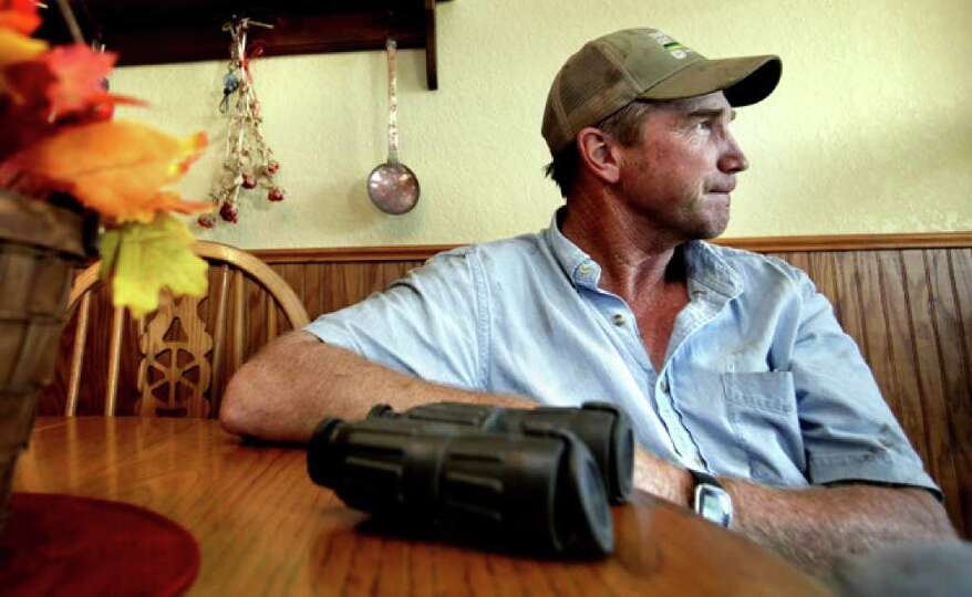 Mike Whitwell, owns a 3,100-acre ranch and leases 11,000 acres near Cotulla where he runs cattle, is