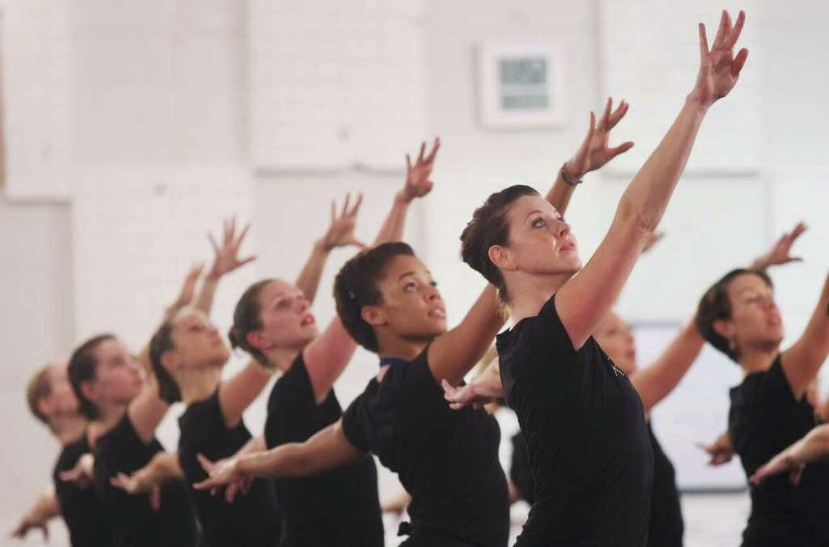 NEW YORK - OCTOBER 14: The Rockettes rehearse for the upcoming