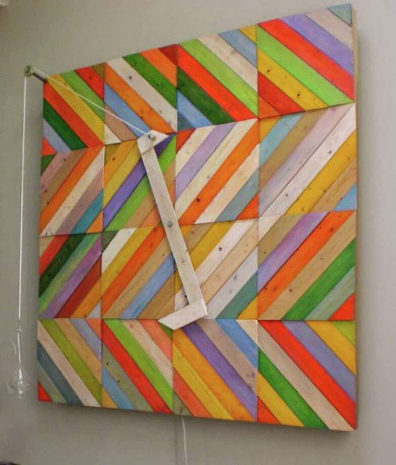 """City Lights Gallery's Kinetic Art show, guest curated by Suzan Shutan of New Haven, features works that move: spin, float, turn, revolve, roll and swing. Among the works is Dan Makara's """"Electric Barometer.""""  A public reception for the artists takes place Oct. 21 from 5:30 to 8 p.m. at the downtown Bridgeport gallery. Photo: CONTRIBUTED PHOTO"""